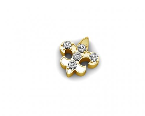 Key Moments Gold Fleur De Lile Stones Element 8KM-E00213
