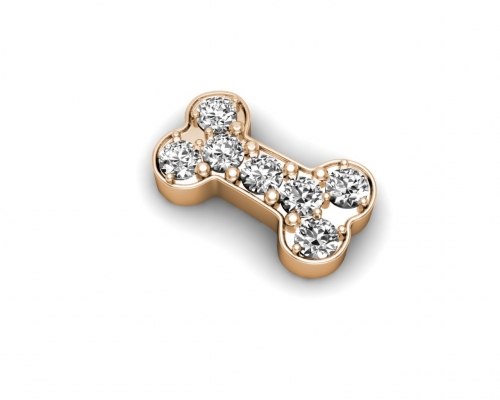 Key Moments Rose Gold Dog Bone Stones Element 8KM-E00057