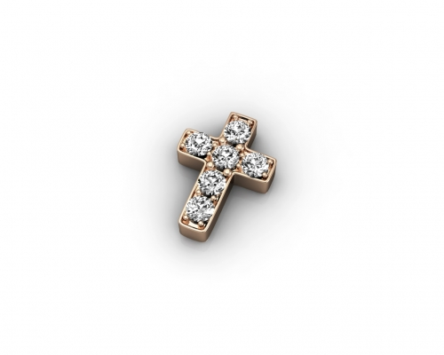 Key Moments Rose Gold Cross Stones Element 8KM-E00230
