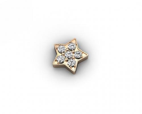 Key Moments Rose Gold Star Stones Element 8KM-E00232