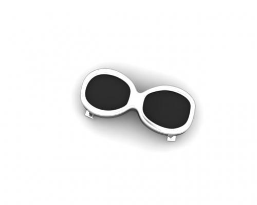 Key Moments Black Sunglasses Enamel Element 8KM-E00022