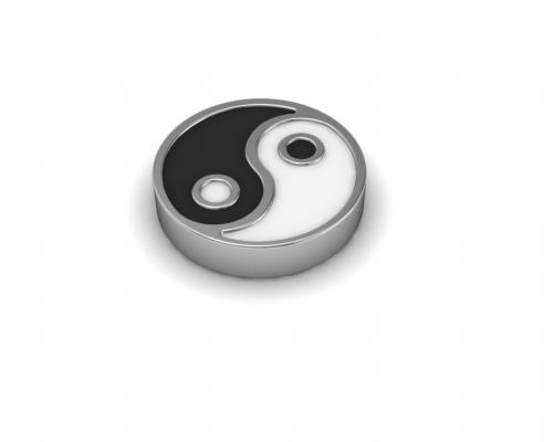 Key Moments White Ying Yang Enamel Element 8KM-E00024