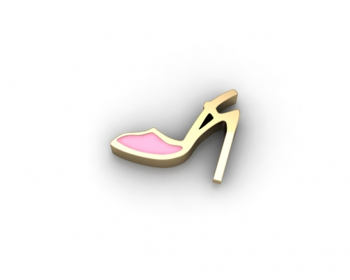 Key Moments Pink High Heel Enamel Element 8KM-E00045