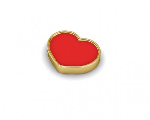Key Moments Gold Red Heart Enamel Element 8KM-E00180