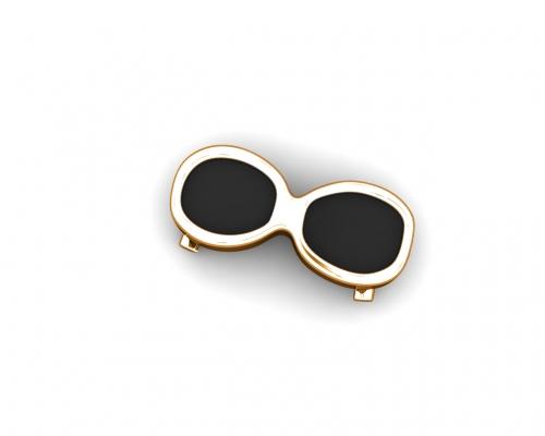 Key Moments Rose Gold Black Sunglasses Enamel Element 8KM-E00185