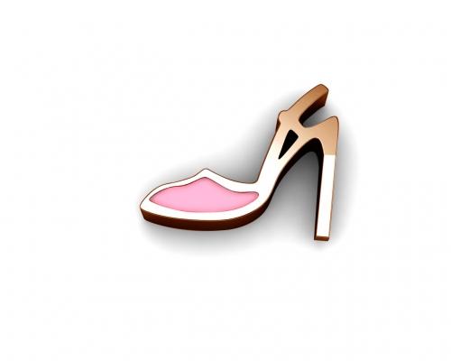 Key Moments Rose Gold Pink High Heel Enamel Element 8KM-E00186