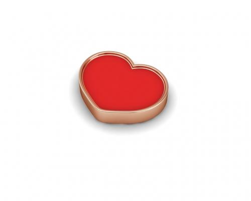 Key Moments Rose Gold Red Heart Enamel Element 8KM-E00188