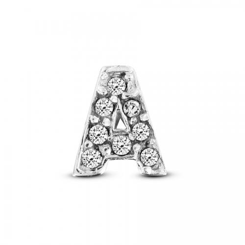 Key Moments Silver Letter A Stones Element 8KM-E00061