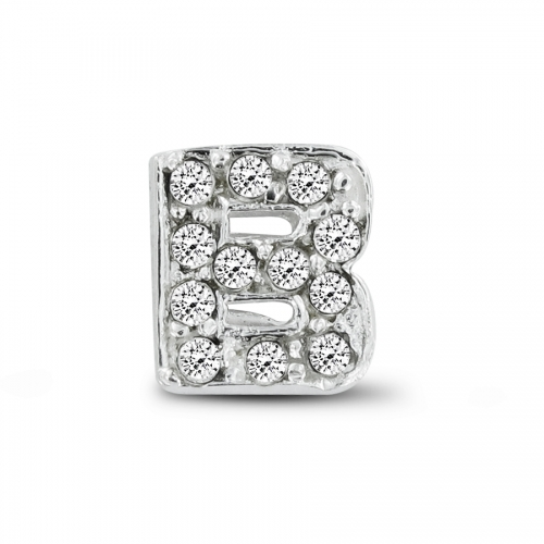 Key Moments Silver Letter B Stones Element 8KM-E00062