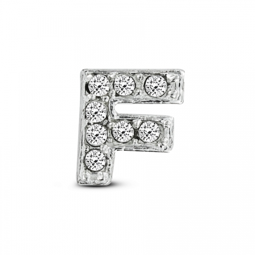 Key Moments Silver Letter F Stones Element 8KM-E00066