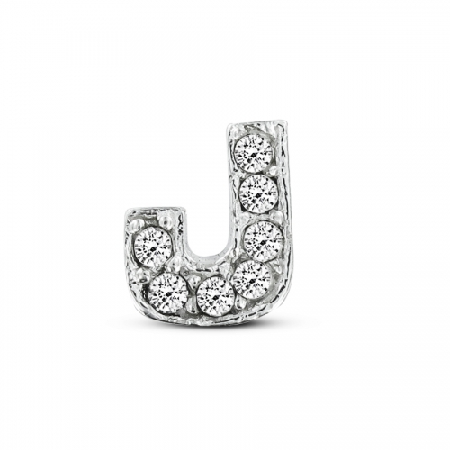 Key Moments Silver Letter J Stones Element 8KM-E00070