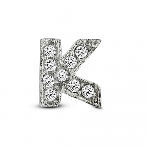 Key Moments Silver Letter K Stones Element 8KM-E00071