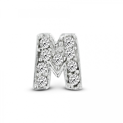 Key Moments Silver Letter M Stones Element 8KM-E00073