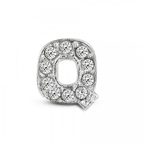 Key Moments Silver Letter Q Stones Element 8KM-E00077