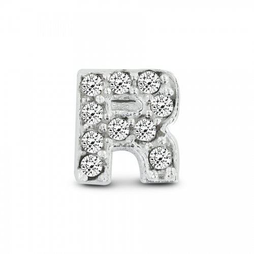 Key Moments Silver Letter R Stones Element 8KM-E00078