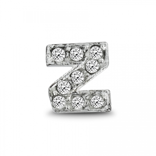 Key Moments Silver Letter Z Stones Element 8KM-E00086