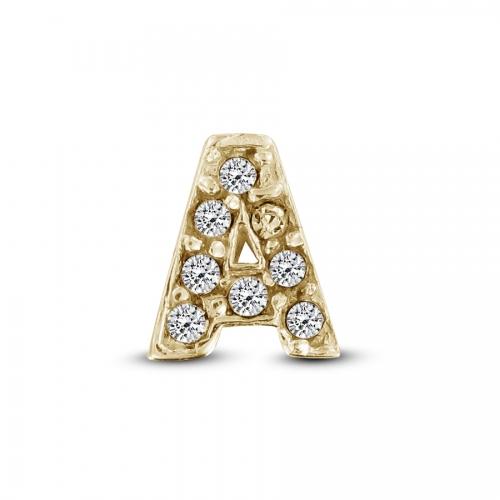 Key Moments Gold Letter A Stones Element 8KM-E00101