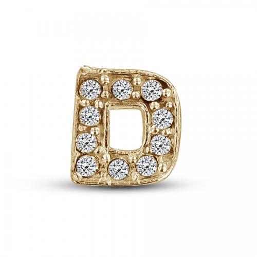 Key Moments Gold Letter D Stones Element 8KM-E00104