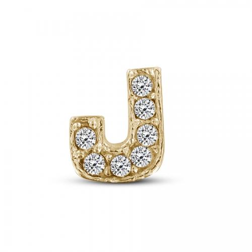 Key Moments Gold Letter J Stones Element 8KM-E00110
