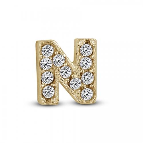 Key Moments Gold Letter N Stones Element 8KM-E00114