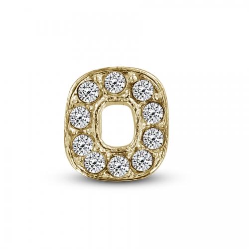 Key Moments Gold Letter O Stones Element 8KM-E00115