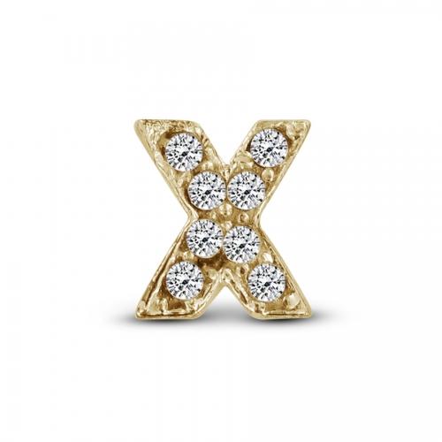 Key Moments Gold Letter X Stones Element 8KM-E00124