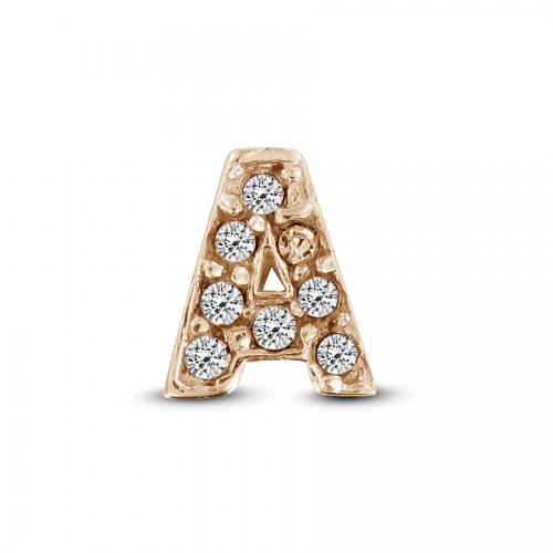 Key Moments Rose Gold Letter A Stones Element 8KM-E00127