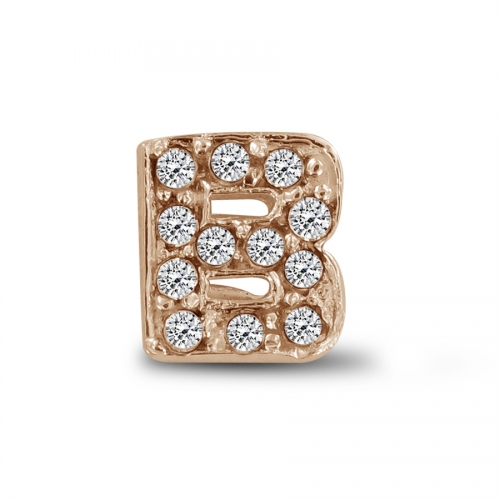 Key Moments Rose Gold Letter B Stones Element 8KM-E00128
