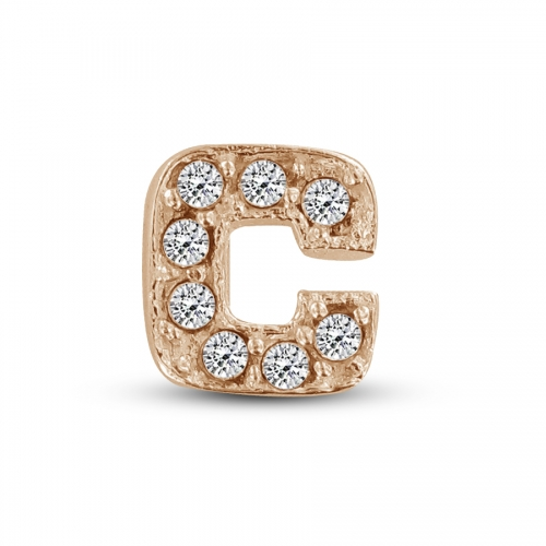 Key Moments Rose Gold Letter C Stones Element 8KM-E00129