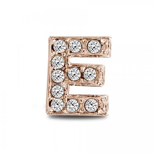 Key Moments Rose Gold Letter E Stones Element 8KM-E00131