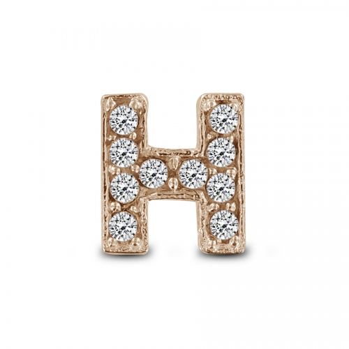 Key Moments Rose Gold Letter H Stones Element 8KM-E00134
