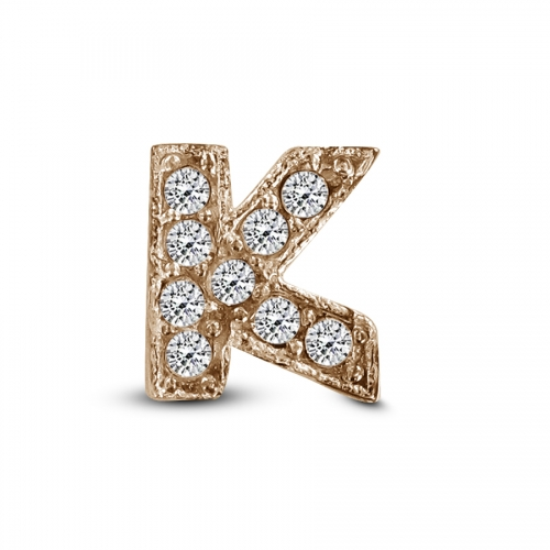 Key Moments Rose Gold Letter K Stones Element 8KM-E00137