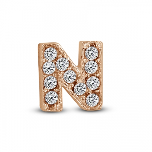 Key Moments Rose Gold Letter N Stones Element 8KM-E00140