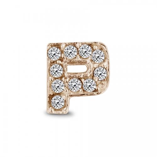 Key Moments Rose Gold Letter P Stones Element 8KM-E00142