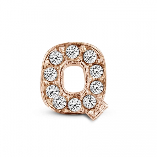 Key Moments Rose Gold Letter Q Stones Element 8KM-E00143