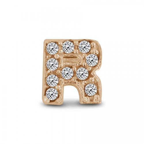 Key Moments Rose Gold Letter R Stones Element 8KM-E00144