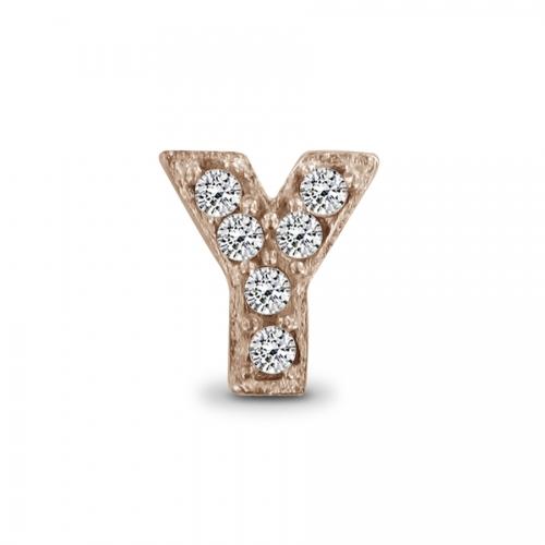 Key Moments Rose Gold Letter Y Stones Element 8KM-E00151