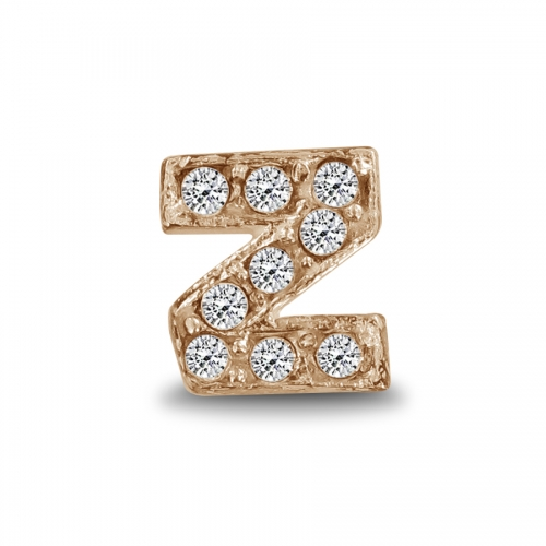 Key Moments Rose Gold Letter Z Stones Element 8KM-E00152