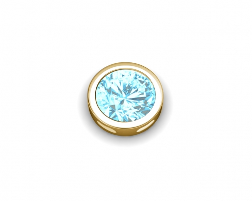 Key Moments March Birthstone Light Blue Stone Element 8KM-E00155