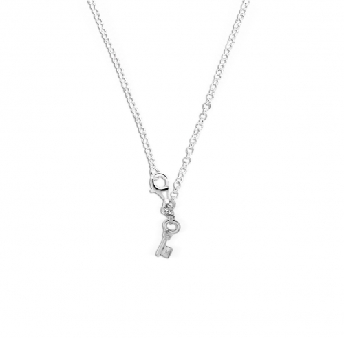 Key Moments 70 cm Silver Belcher Necklace 8KM-N00002