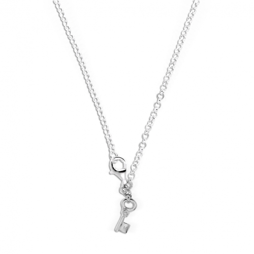 Key Moments 90 cm Silver Belcher Necklace 8KM-N00003