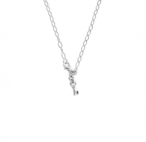 Key Moments 50 cm Silver Diamond Shape Necklace 8KM-N00004