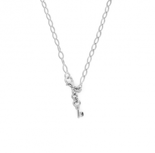 Key Moments 70 cm Silver Diamond Shape Necklace 8KM-N00005