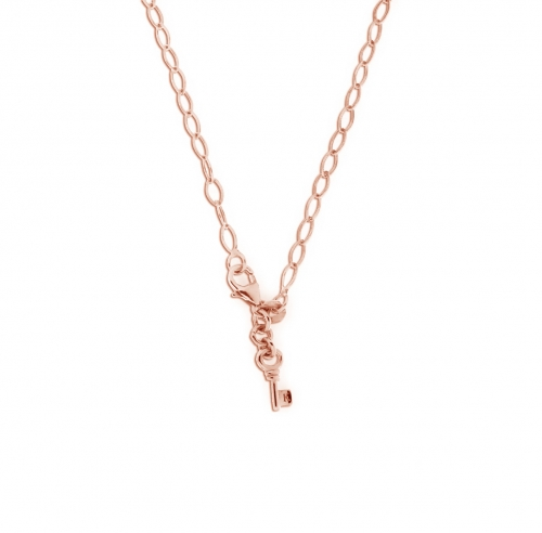 Key Moments 70 cm Rose Gold Diamond Shape Necklace 8KM-N00017