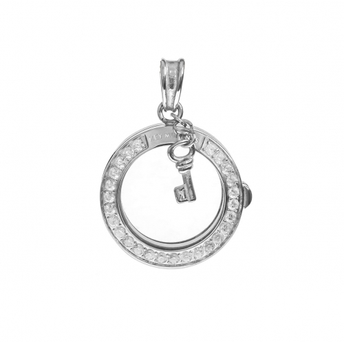 Key Moments Small Silver Pendant 8KP-00002