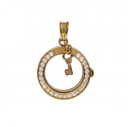 Key Moments Small Gold Pendant 8KP-00010