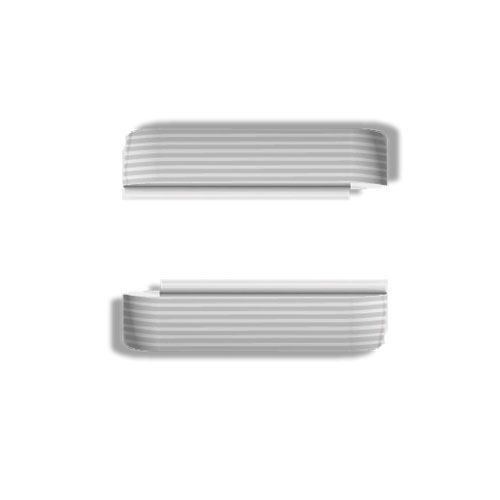 Wize and Ope White Waves Interchangeable Plastic Slides SL066