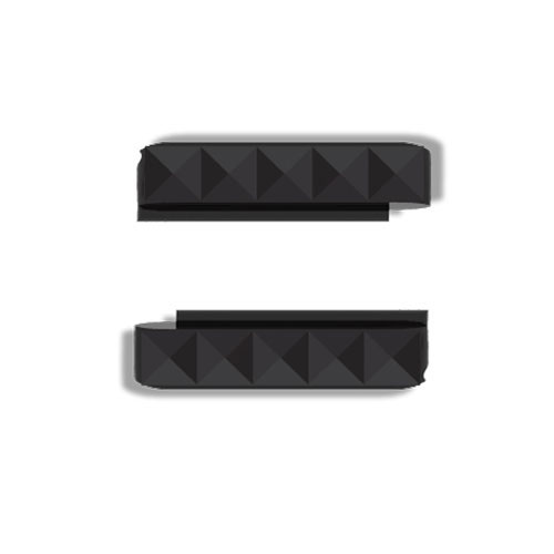 Wize and Ope Black Studs Interchangeable Plastic Slides SL087