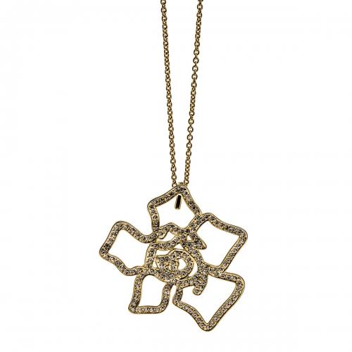 Nicky Vankets Stone Set Flower Necklace