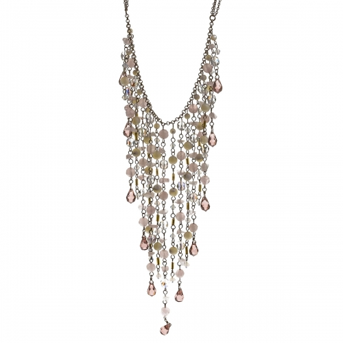 Nicky Vankets Multi Jewel Dangle Necklace